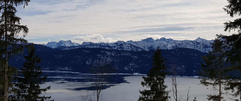 Blick auf Walchensee