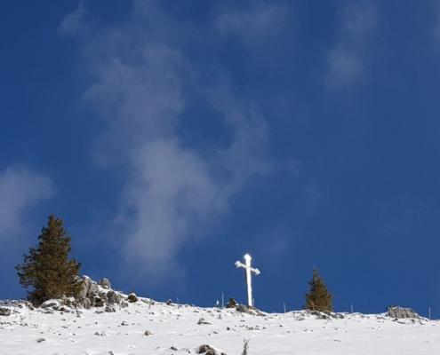 Winterwanderung Bodenschneid: Gipfel