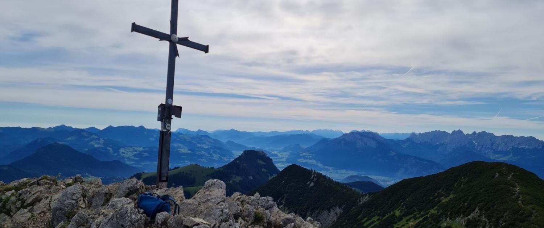 Wanderung Großer Traithen - Gipfelkreuz
