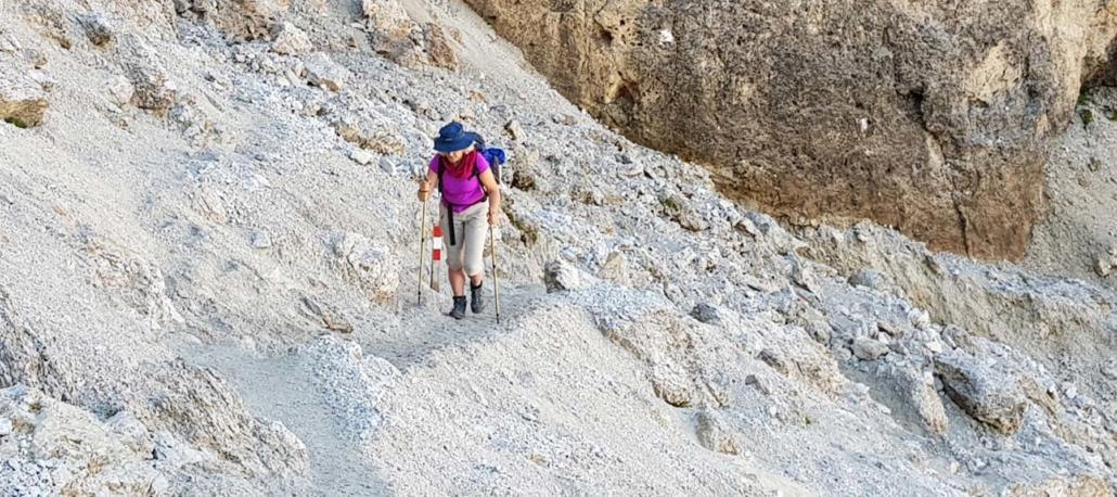 Unterwegs auf dem Dolomitenhöhenweg Nr. 2: Aufstieg Val Setus