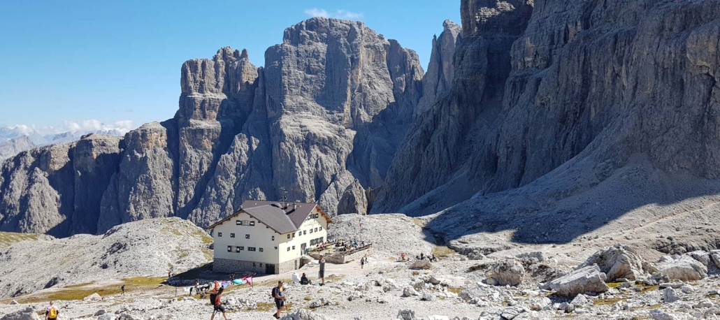 Unterwegs auf dem Dolomitenhöhenweg Nr. 2: Rifugio Pisciadu