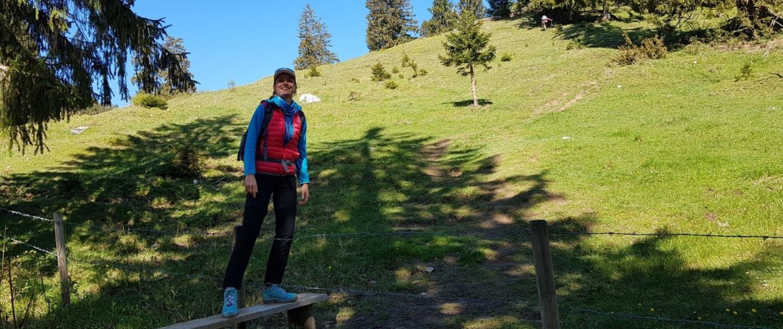 Wanderung auf die Lacherspitze - Überquerung Holzsteg