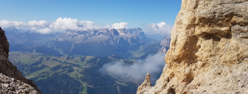 Wanderung Lavarela: Blick auf Puezgruppe