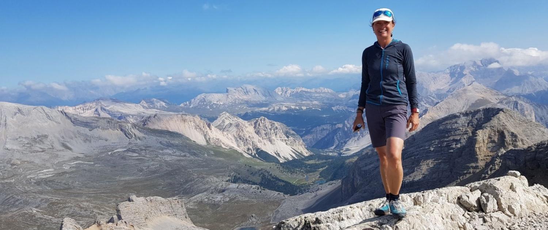 Wanderung Lavarela: am Gipfel