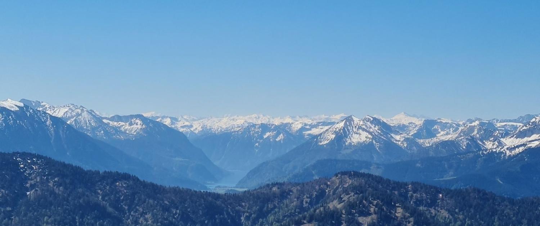 Wanderung auf den Roßstein - Gipfelblick nach Süden
