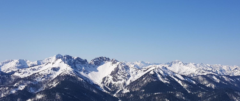 Winterwanderung Rotwand: Blick nach Westen