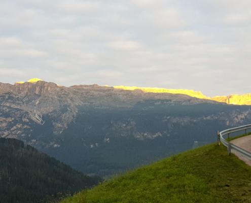 Sassongher spektakulärer Gipfel