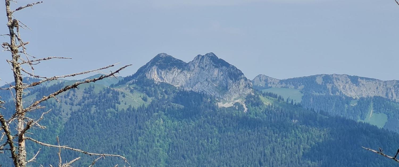 Wanderung auf den Schildenstein - Blick auf Roß- und Buchstein
