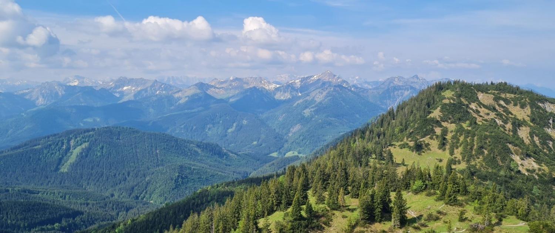 Schildenstein - Gipfelblick nach Süden