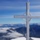 Winterwanderung am Achensee: Gipfelkreuz Unnütz